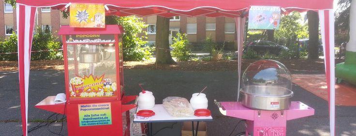 Popcornmaschine  Preise:    85,00 € / Tag inkl. 100 Portionen (mit Unterwagen)  75,00 € / Tag inkl. 100 Portionen (ohne Unterwagen)  35,00 € für je weitere 100 Portionen  Service:   An- und Abfahrt bis 20km ab 52477 Alsdorf kostenlos.  Ab 20km ist die Lieferung gegen Aufpreis möglich.
