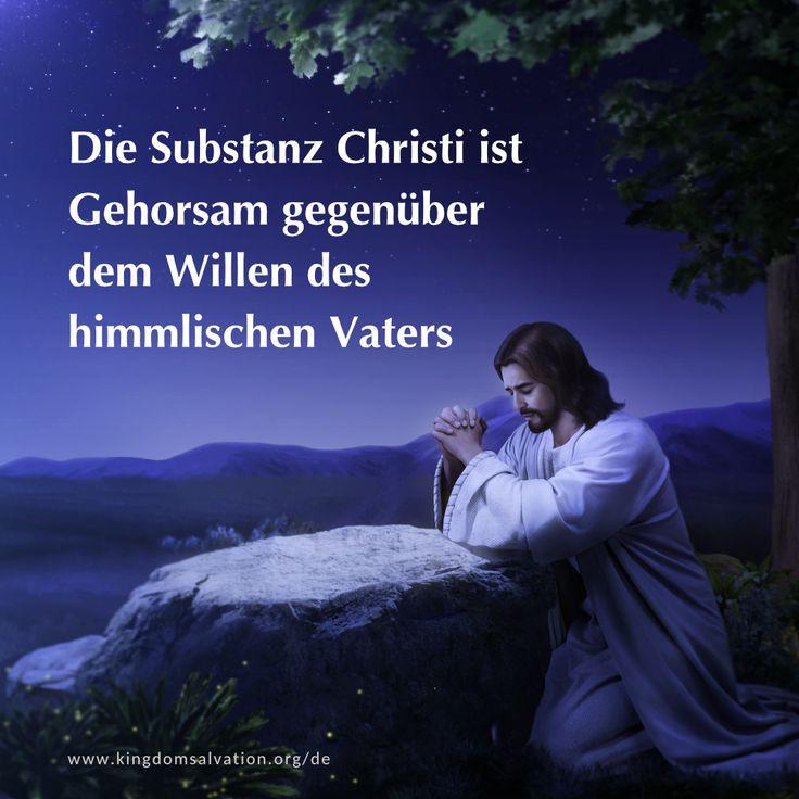 Die Substanz Christi ist Gehorsam gegenüber dem Willen des