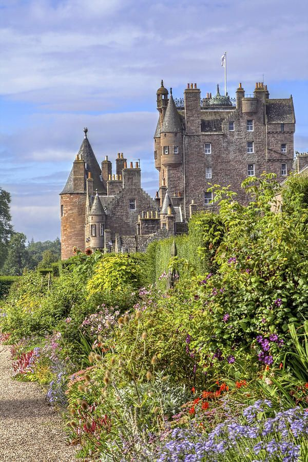 Glamis Castle, Angus, Scotland. Childhood home of Queen Elizabeth the Queen Mother
