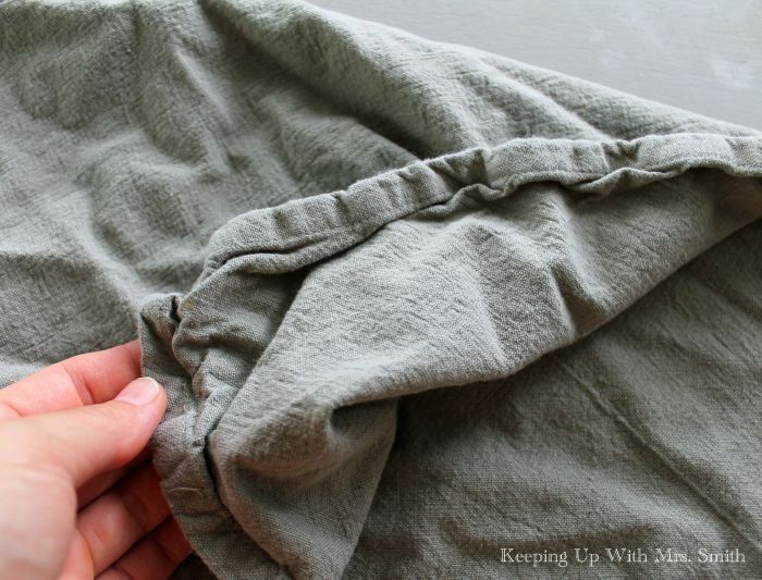 Smooth, Crisp Cloth Napkins (no Iron Needed!). After washing, place napkins in the dryer for 5 minutes. Fold in half and place on a hanger to dry (can stack napkins). Once dry, fold and put away.