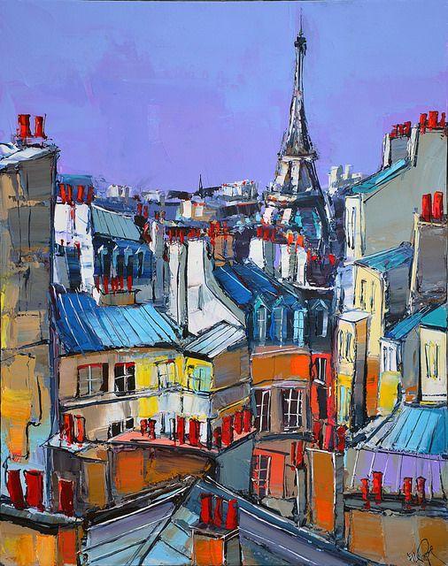 Eric Le Pape, artiste peintre de Bretagne | Peintures d'ailleurs : Tunisie, Vietnam, terrasses, souk...