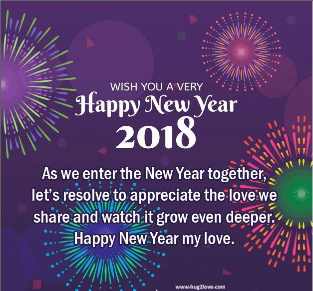 Superb New Style 2018 Happy New Year Eve Ecard For Couple