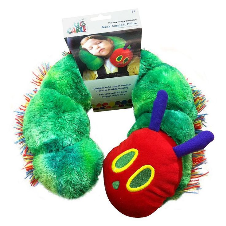 The World of Eric Carle Caterpillar Neck Support Pillow, Green