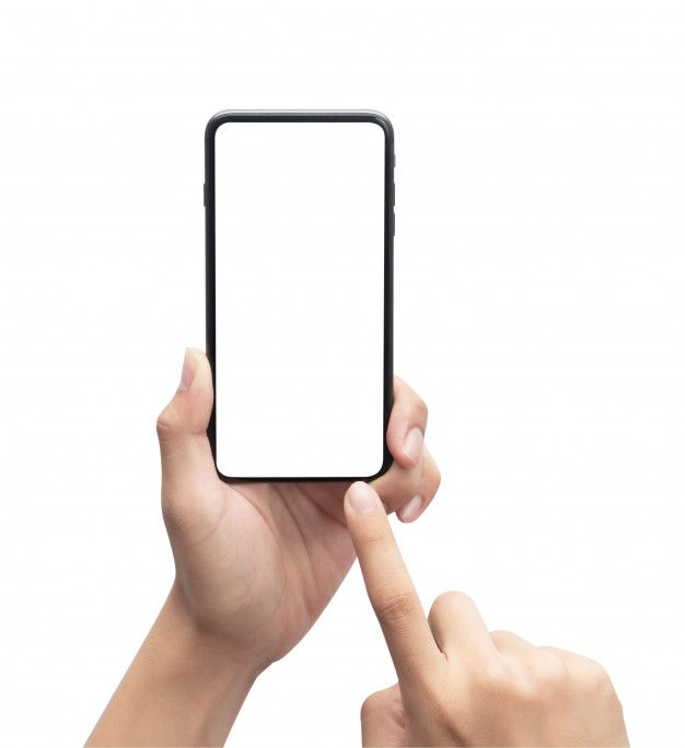 Male Hand Holding The Black Smartphone And Touching On Blank Screen Isolated On White Background With Clipping Path Hand Holding Phone Male Hands Iphone Background Images