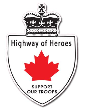 The Highway of Heroes - Canada is the only country in the world that repatriates all their fallen soldiers to the same location (Trenton Air Base, Ontario). Since 2002 supporters of Canadian Troops have been lining the route on the overpasses of the highway; flying a flag, saluting and showing support as the procession of vehicles passes on their way to the official coroner's office for the Troops located in Toronto. In 2007 the Macdonald-Carter Highway 401 became the Highway of Heroes.