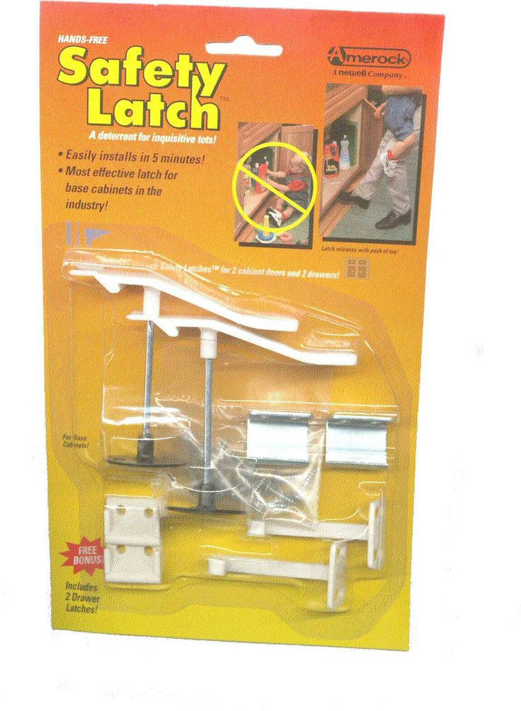 Hands-Free Safety Latch Child / Earthquake AM-CP9797-W