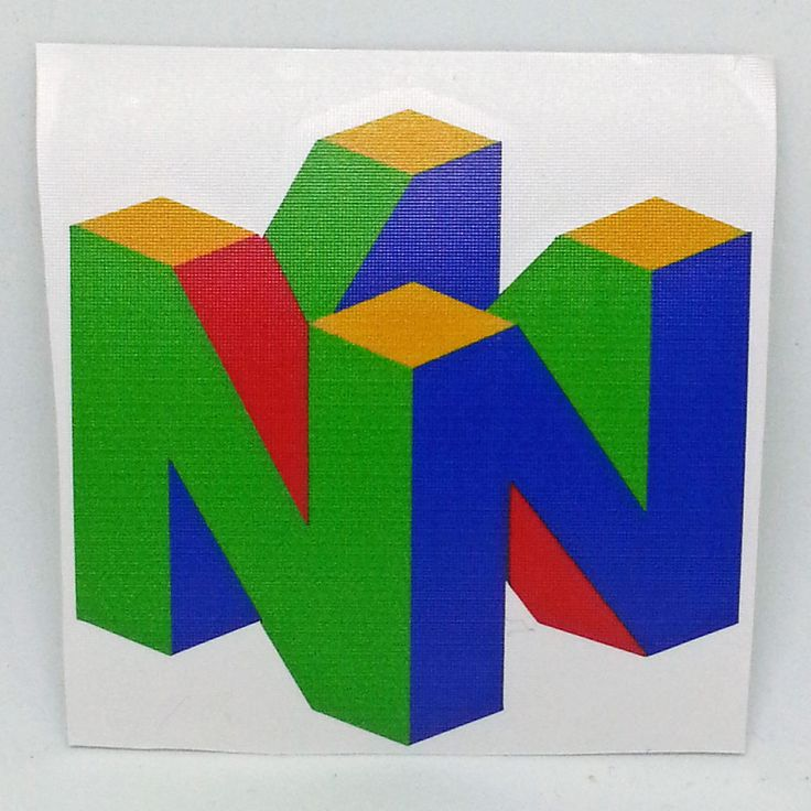 Nintendo 64 N64 Logo Sticker Vinyl Decal Printed - NO Video Game or Console   eBay