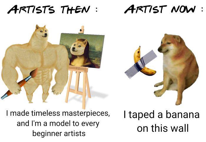 Then Now Dog Meme Doge Meme Memes Dog Memes