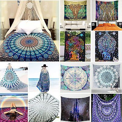 Zwillinge Indisch Mandala Tapisserie Wandteppich Strandtuch Picknick Yoga Matte
