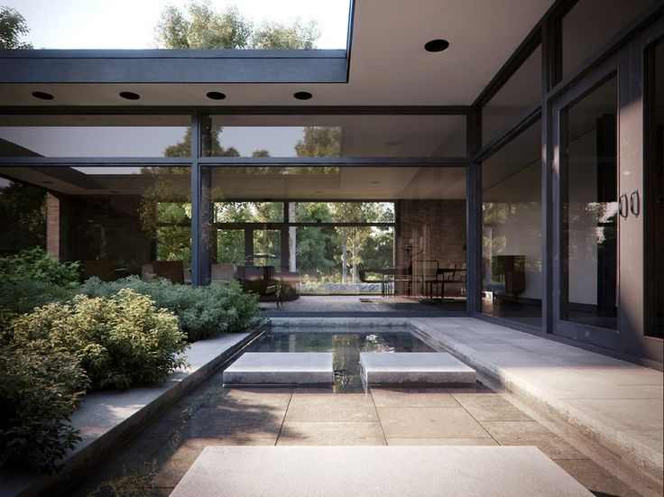 129 best Modern Houses images on Pinterest Modern houses - villa wohnzimmer modern