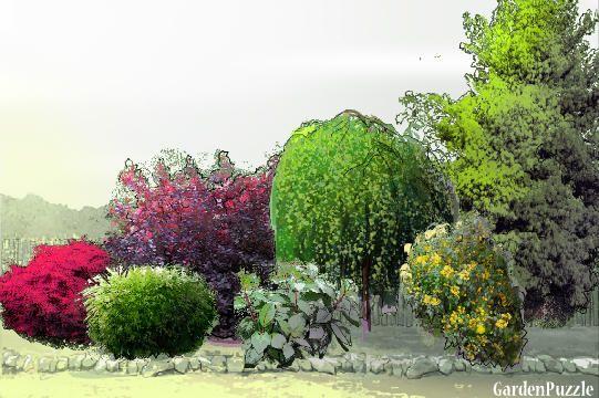 za oknem - GardenPuzzle - projektowanie ogrodów w przeglądarce