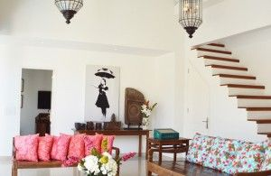 the living area at Villa Santai
