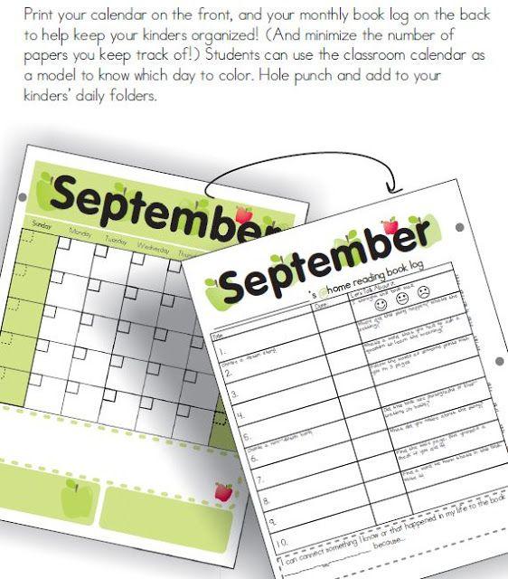 Kindergarten Calendar Folders : Re spon si bil y daily folders in kindergarten