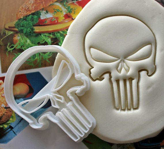 The Punisher Symbol Cookie Cutter / Made From Biodegradable Material / Brand New
