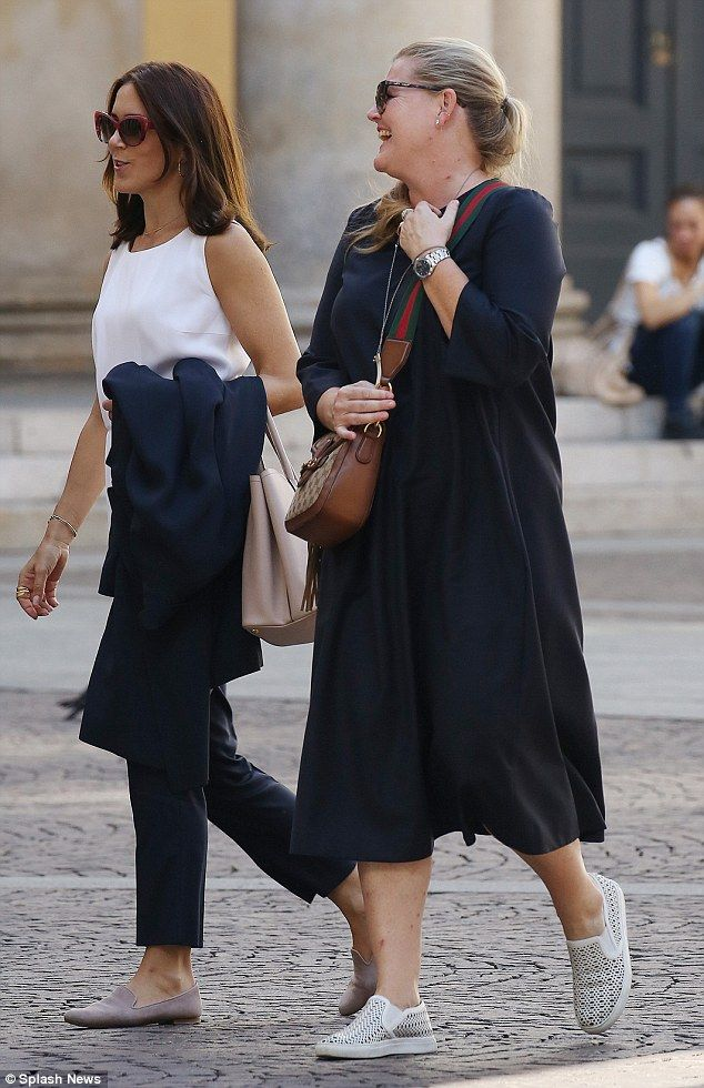 Princess abroad: The Milan shopping trip came a week before Mary jetted to New York to att...