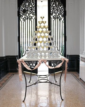 15 great gatsby party ideas champagne tower champagne for Art deco party decoration ideas