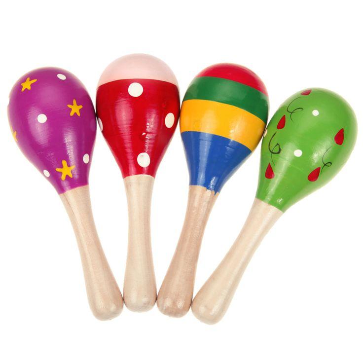 Juguetes del Traqueteo del bebé Martillo de la Arena del Instrumento Musical Para Niños de Sonido de Música Juguetes De Madera Martillo de la Arena Mango Bebé de Juguete