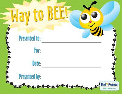 printable award certificates for kids