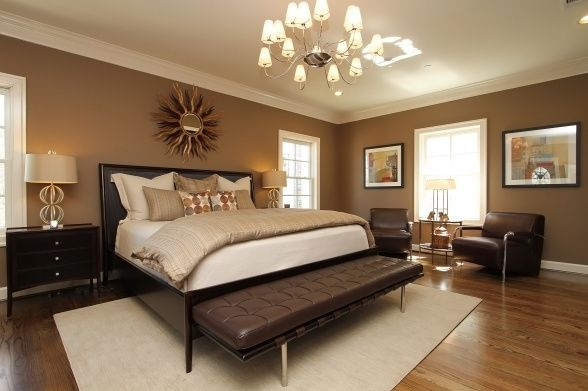 Wall color is sw 7525 tree branch and trim ceiling color for Warm colors for small bedrooms