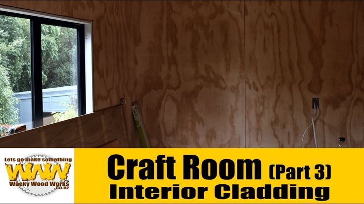 We finally start the interior cladding - Craft room build - Wacky Wood W...