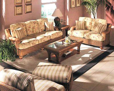 Wicker Sunroom And Rattan Living Room Furniture
