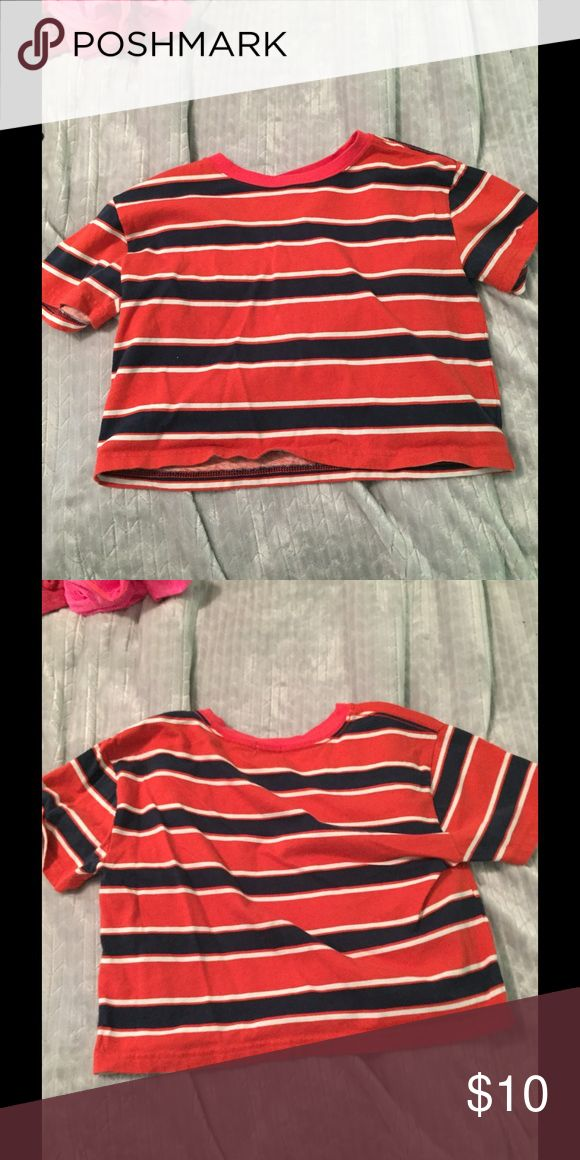 Crop top Multi color crop top, size small. From forever 21 Tops Crop Tops