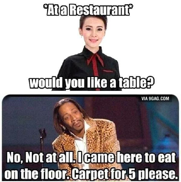 At a restaurant More memes, funny videos and pics …
