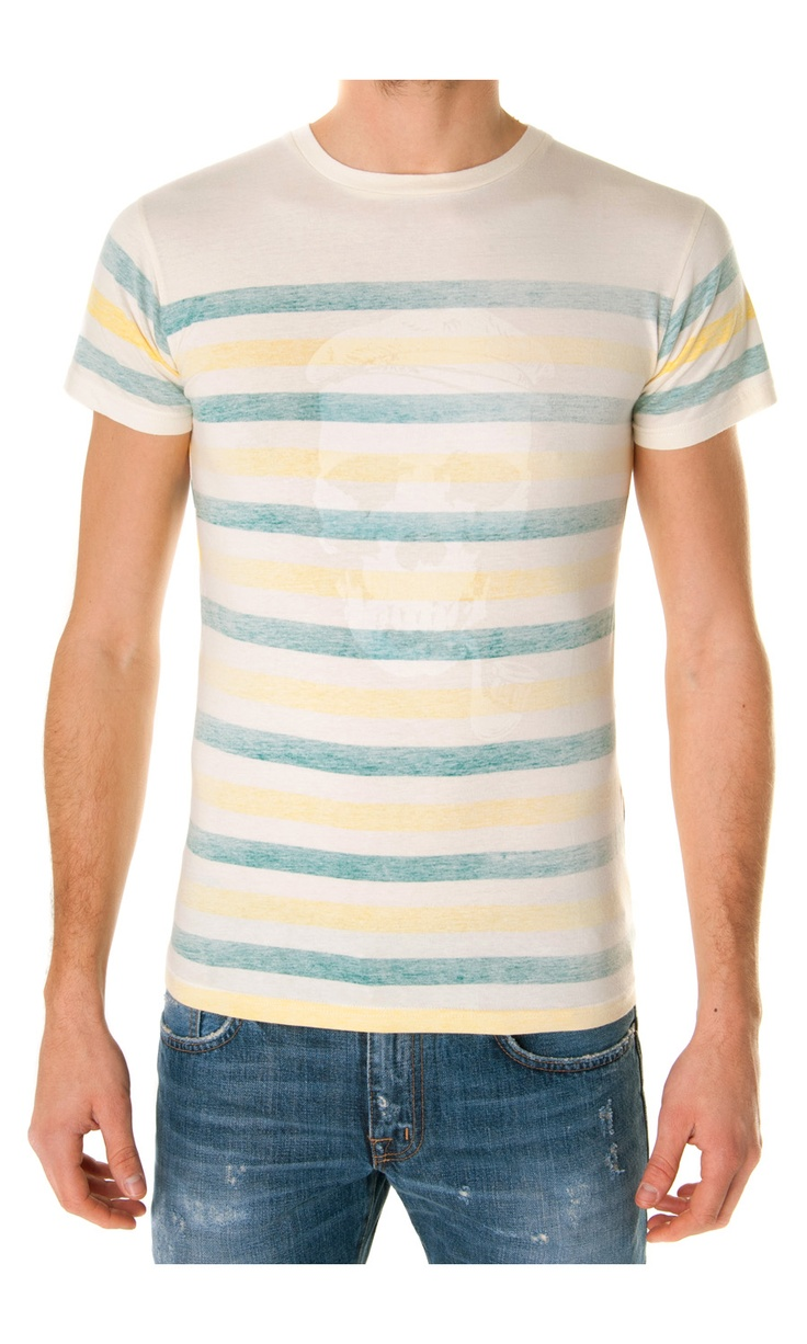 Eleven Paris Reverse Printed Striped T-shirt - #Menswear  www.sansovinomoda.it