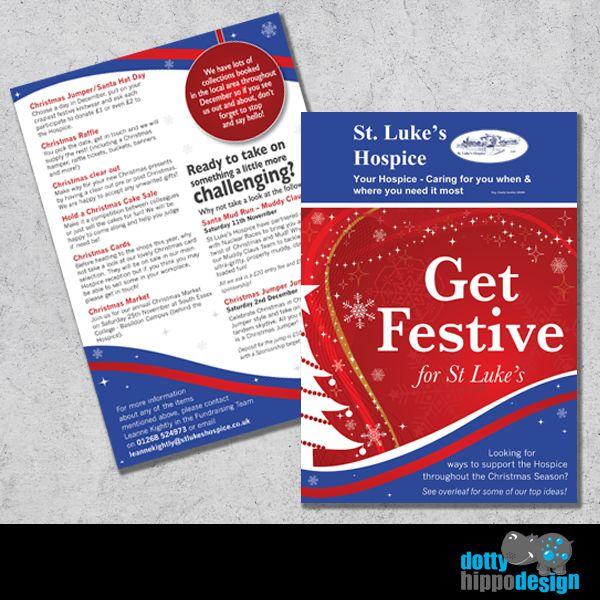 Festive flyer for St. Luke's Hospice