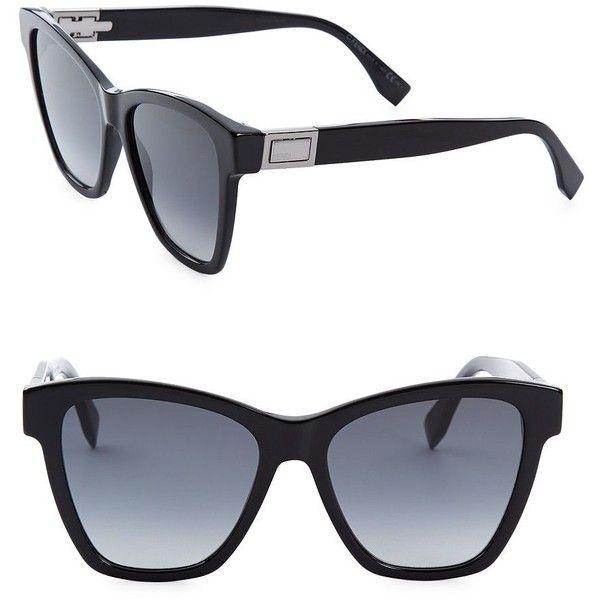 Fendi 55MM Oversized Cat Eye Sunglasses ($390) ❤ liked on Polyvore featuring accessories, eyewear, sunglasses, oversized cateye sunglasses, oversized glasses, oversized cat eye sunglasses, fendi glasses and cat eye sunnies
