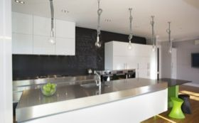 Domestic Stainless Steel Benchtop see how ssteel comes up the bak
