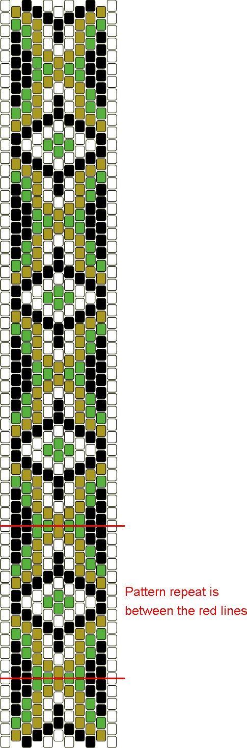 Free Bead Patterns and Ideas : Peyote Beaded Graph Pattern - Free Pattern