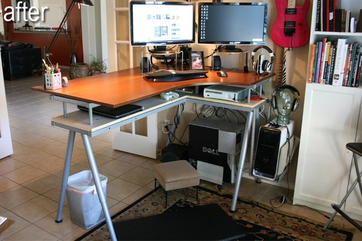Galant Stand-Up Desk and Rationell Variera monitor stands - IKEA Hackers