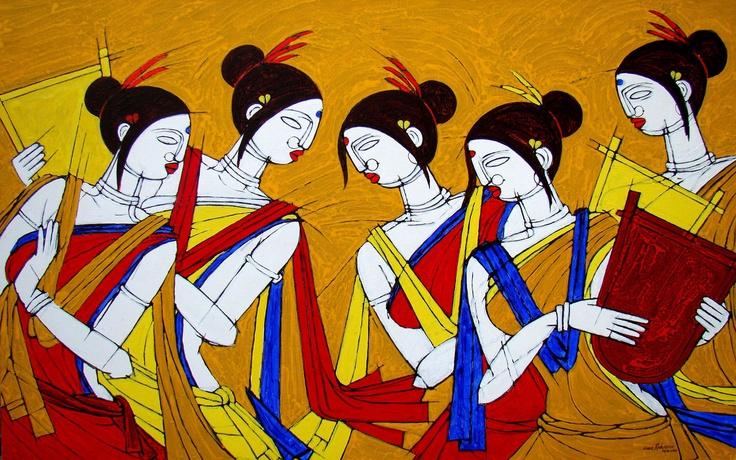 Tribal Dance by Jiaur Rahman no: 59870