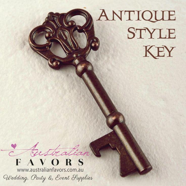 Antique Style Key Bottle Opener Vintage Wedding Favour