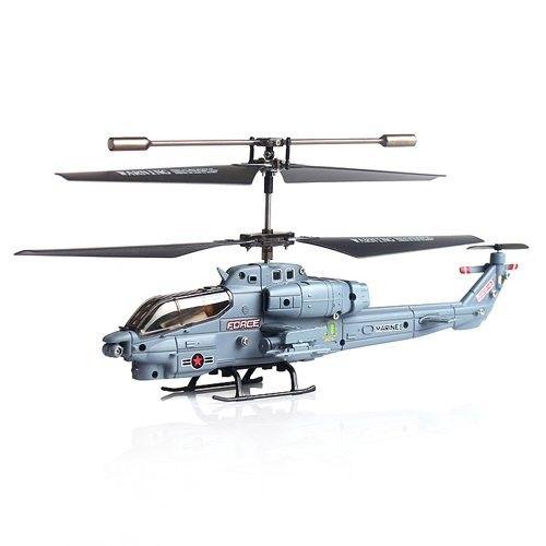 Syma 3 CH Infrared Control Marines Helicopter with GYRO - S108G - Army Gray Model  YMTH05AY Condition  New  Weight : 3.00 kg  Remote Control Helicopter termurah hanya di Gudang Gadget Murah. Syma 3 menggunakan teknologi GYRO yang membuat helicopter terbang lebih stabil. Helicopter ini memiliki design yang kokoh dan tangguh. Dengan berat yang sangat ringan, sehingga aman dari benturan ketika jatuh - Army Gray
