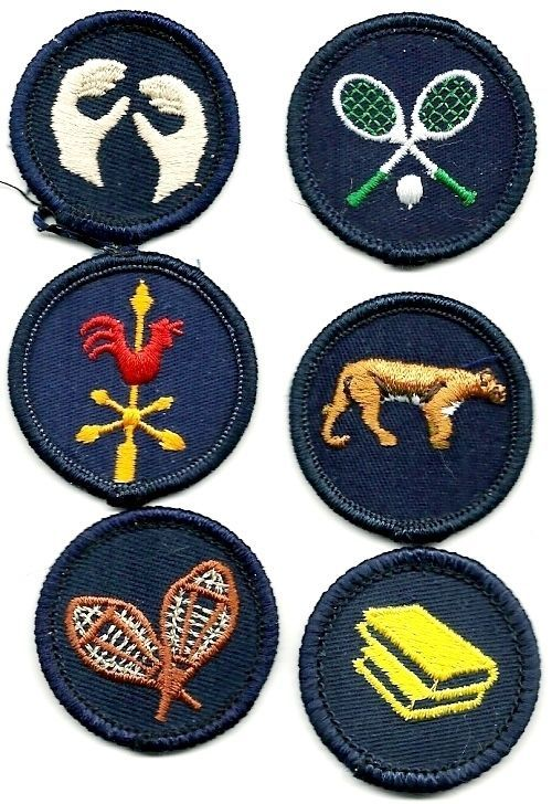 CANADIAN GIRL GUIDES PATCHES  -  LOT G, 6 MINT BADGES  ALL DIFFERENT