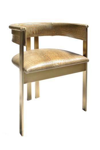 Kelly Wearstler Interior Home Furniture Elliott ChairDesks Chairs, Elliott Chairs, Dining Chairs, Elliot Chairs, Kellywearstler, Antiques Brass, Kelly Wearstler, Italian Design, Leather Chairs