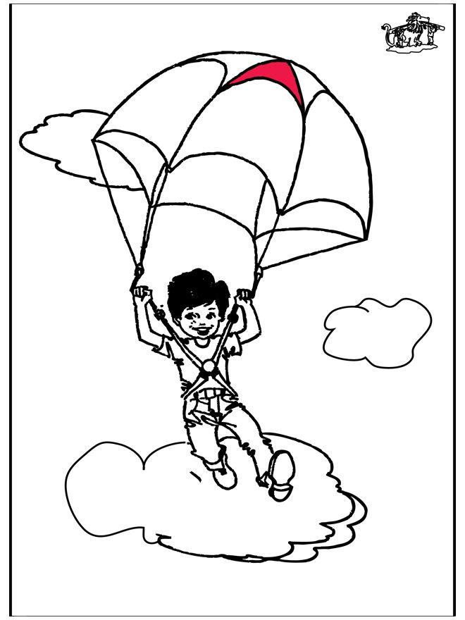 parachutespringen parachutespringen kleurplaten
