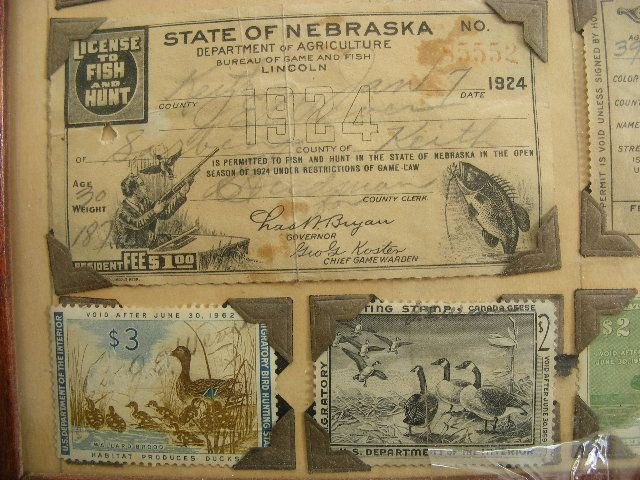 11 best old michigan hunting fishing licenses images on for De fishing license