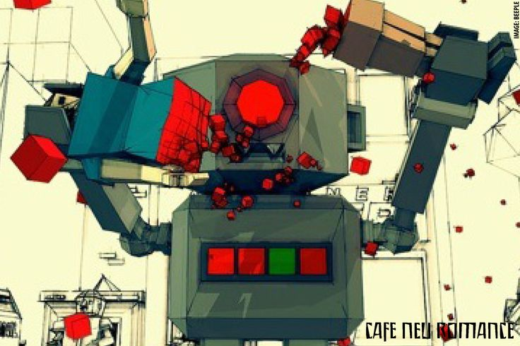 Beeple is a Graphic Designer from Appleton, Wisconsin, USA. At Cafe Neu Romance 2014, three of his robot short productions were screened.  For more information on the Robot Performance Festival Cafe Neu Romance: http://cafe-neu-romance.com/