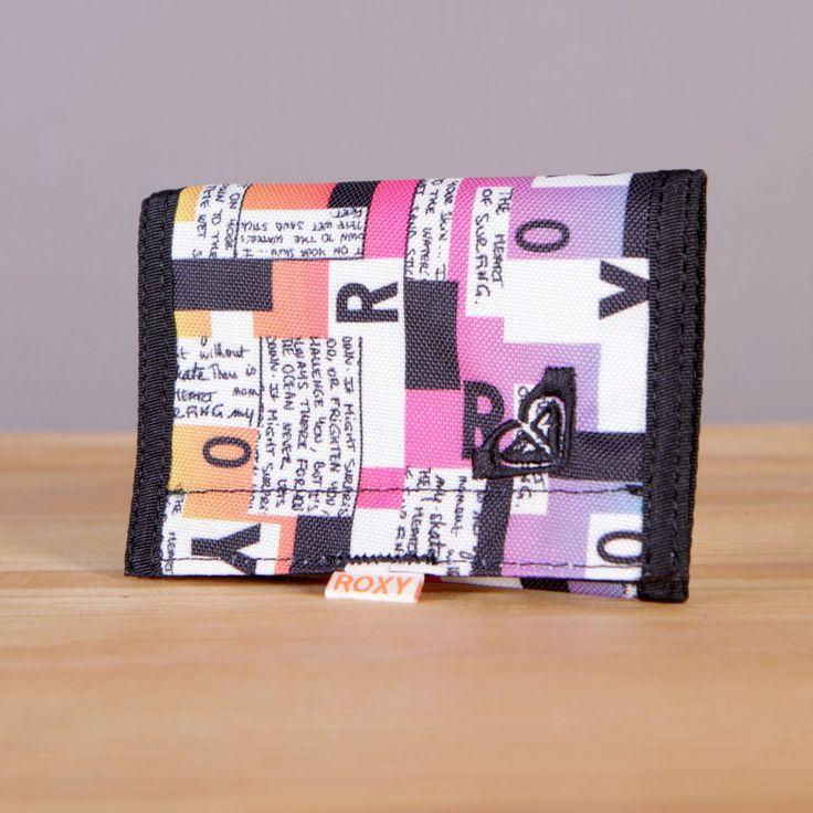Mały portfel damski zapinany na rzep Roxy Small Beach Block Type / www.brandsplanet.pl / #roxy