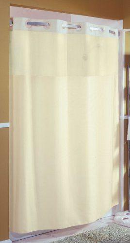 "Focus Hookless Beige Mystery Hotel Style Shower Curtain 71"" X 77""  #FocusHookless"