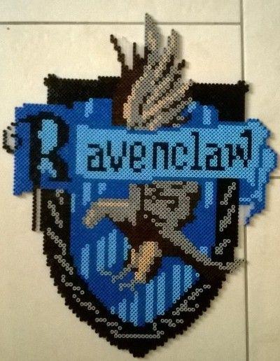 Ravenclaw Crest - Harry Potter perler beads by Perlerwonders