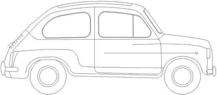 Seat / Fiat 600 - Visto en alzado lateral