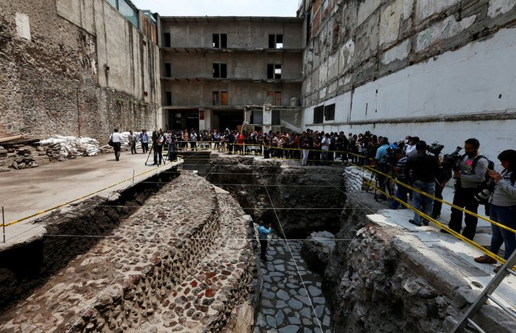 The remains of a major Aztec temple are coming to light in downtown Mexico City, on a nondescript side street just behind a colonial-era Roman Catholic cathedral and on the grounds of a 1950s-era hotel. - The New York Times