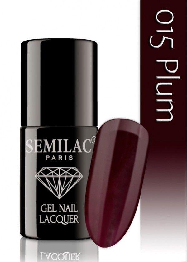Semilac 015 Plum UV&LED Nagellack. Auch ohne Nagelstudio bis zu 3 WOCHEN perfekte Nägel!