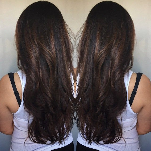 balayage dark brunette - Hledat Googlem