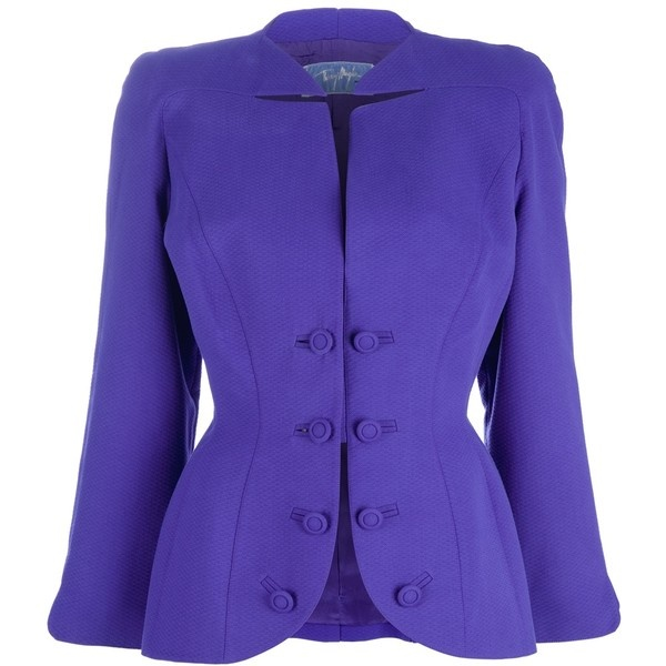 THIERRY MUGLER VINTAGE fitted jacket ❤ liked on Polyvore