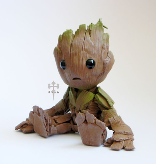 I want a baby groot!! You think they'd be making more of these as toys....they'd make a fortune